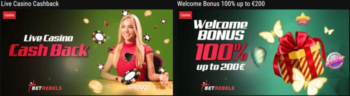 Betrebels bonus casinò