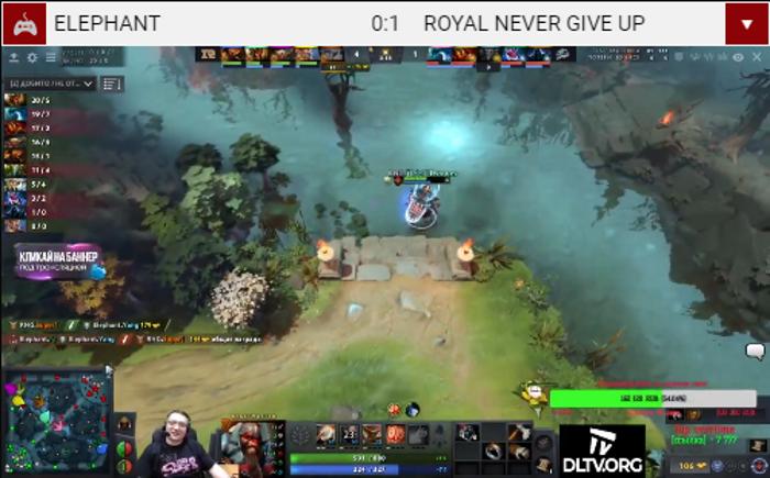 Esports Dota 2 - Live streaming